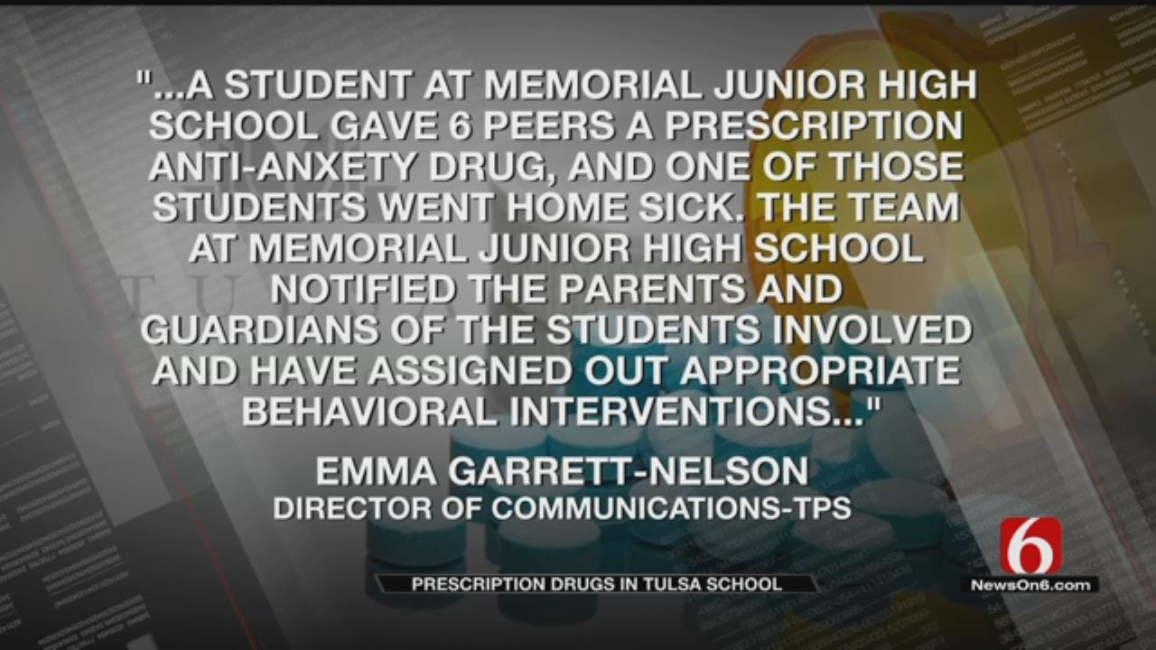 Tulsa Mother Upset After Drugs Handed Out At Son's School