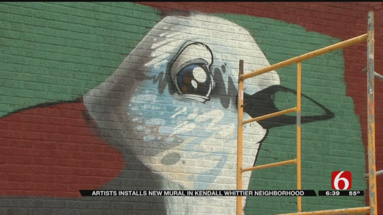 Kendall Whittier Building Gets New Mural
