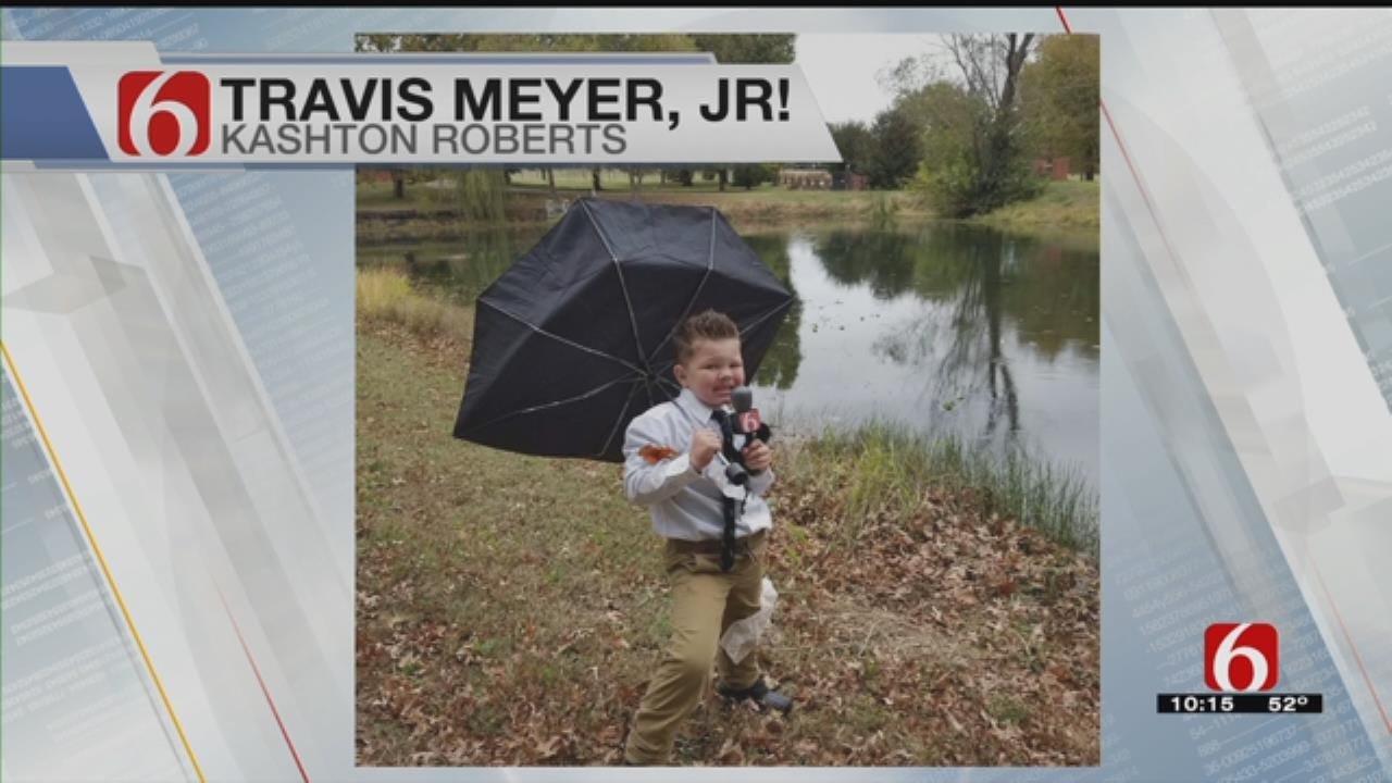 Kid Wins Costume Contest Dressed As Travis Meyer