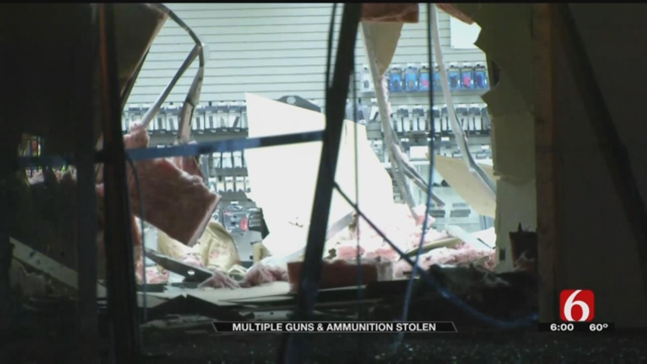 SUV Smashes Through Tulsa Gun Store, At Least 12 AR-15 Rifles Stolen