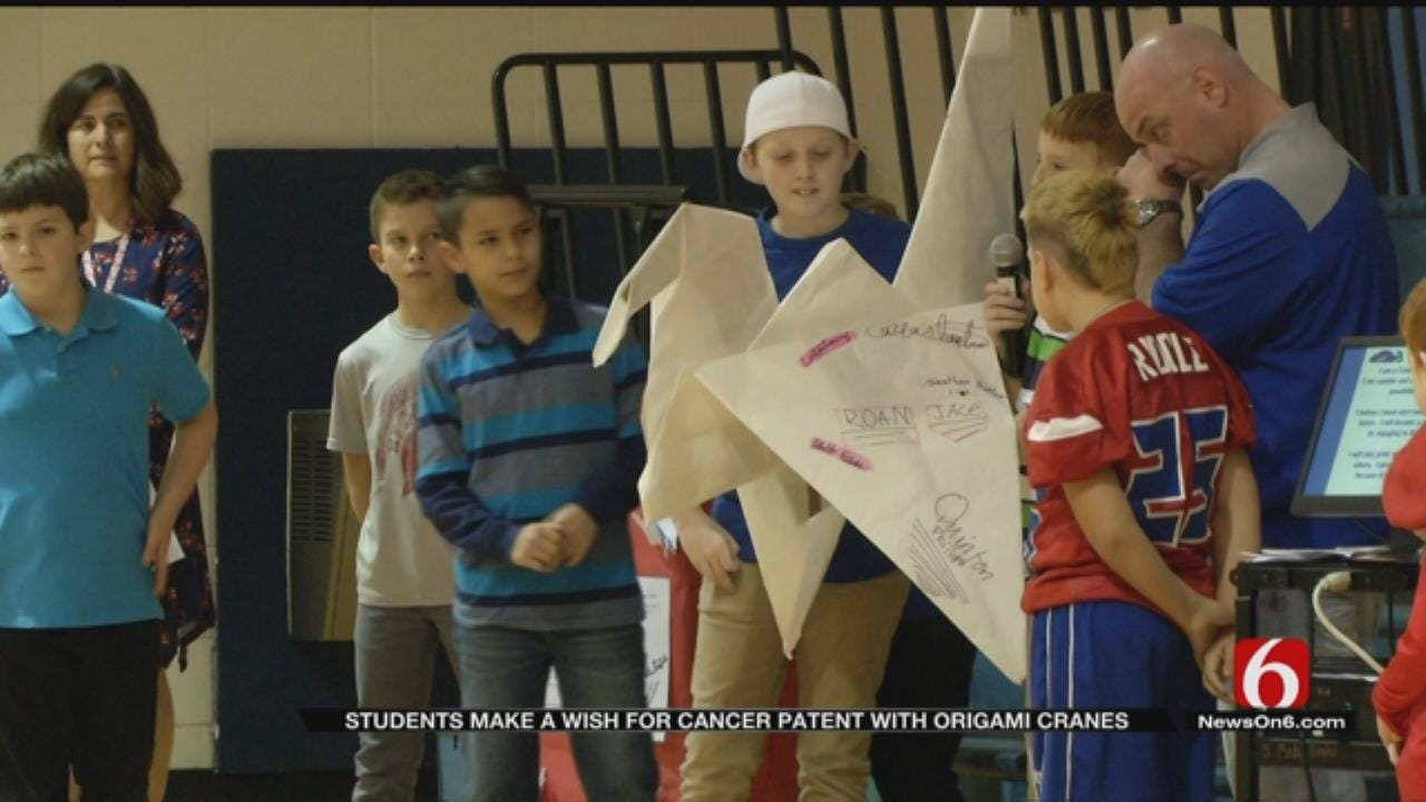 Bixby Students Make 1,000 Origami Cranes For Father Diagnosed With Cancer