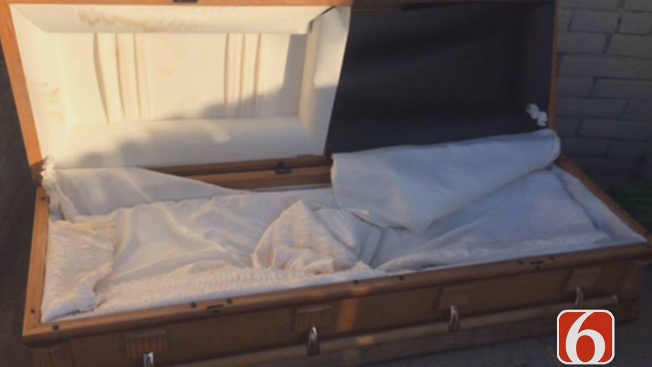 Dave Davis: Casket Found In Tulsa Parking Lot