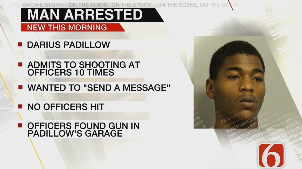 Tulsa Police: Man Shoots At Officers To 'Send A Message'