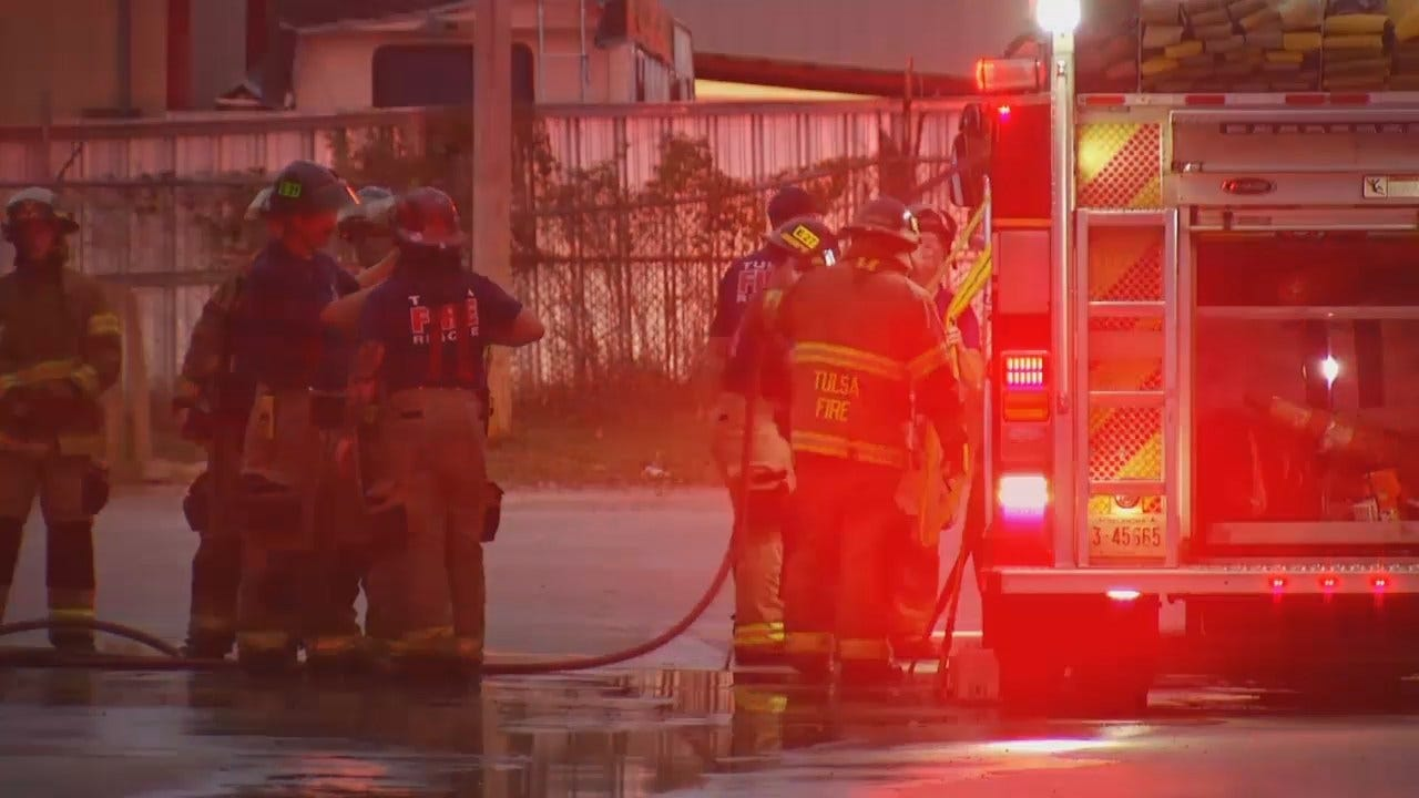 WEB EXTRA: Video From Scene Of Tulsa Laundry Room Fire