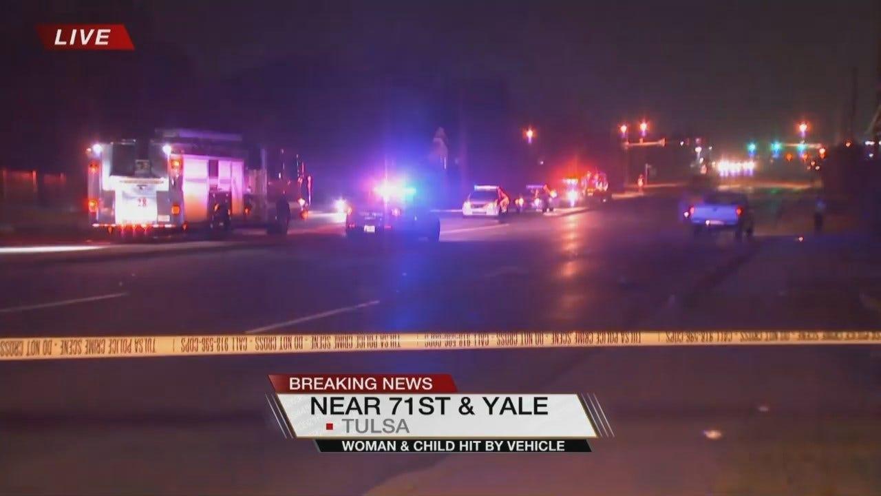 Tulsa Driver Hits Woman And Child