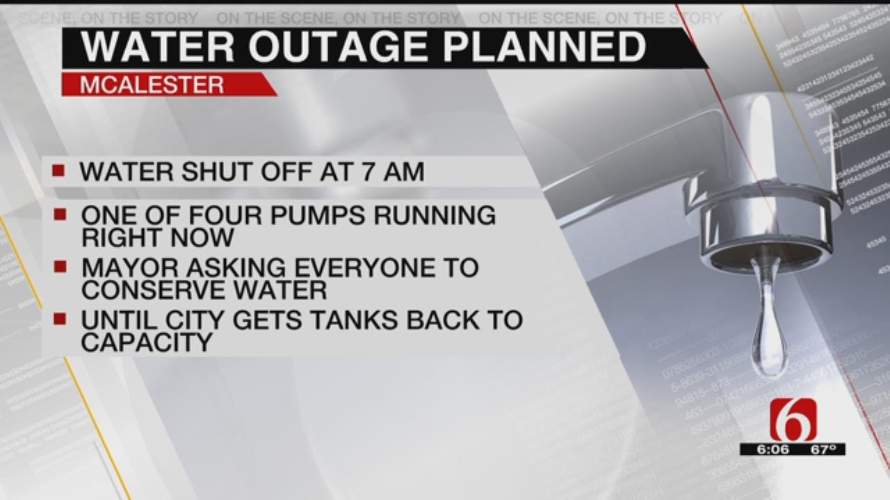 McAlester Residents Asked To Conserve Water As City Works To Fix Issues