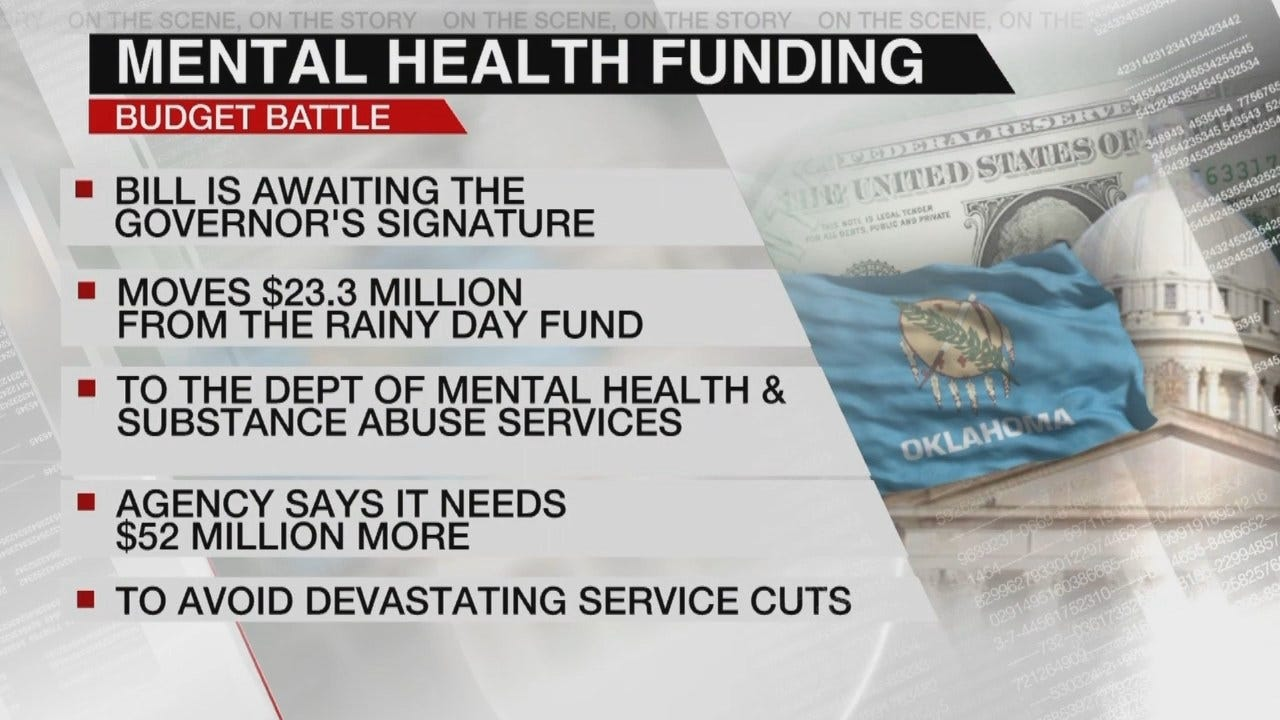 Funding Bill Moves $23 Million From Rainy Day Fund For Mental Health