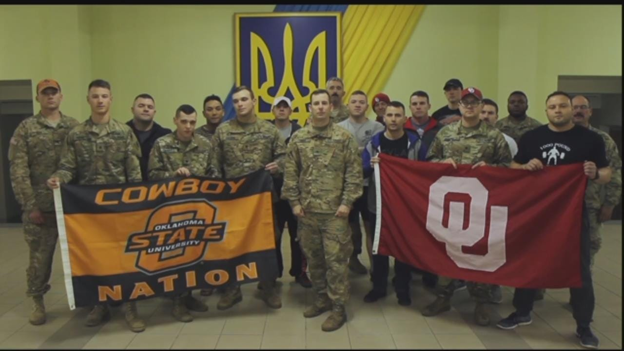 Bedlam Shoutout From Oklahoma National Guard Serving In Ukraine