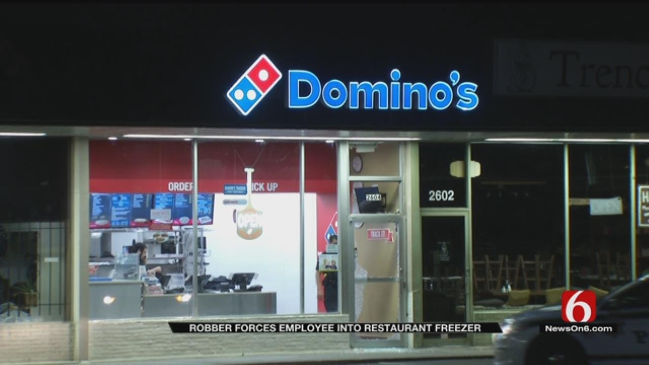 Man Uses Concrete Block, Gun To Rob Tulsa Pizza Store