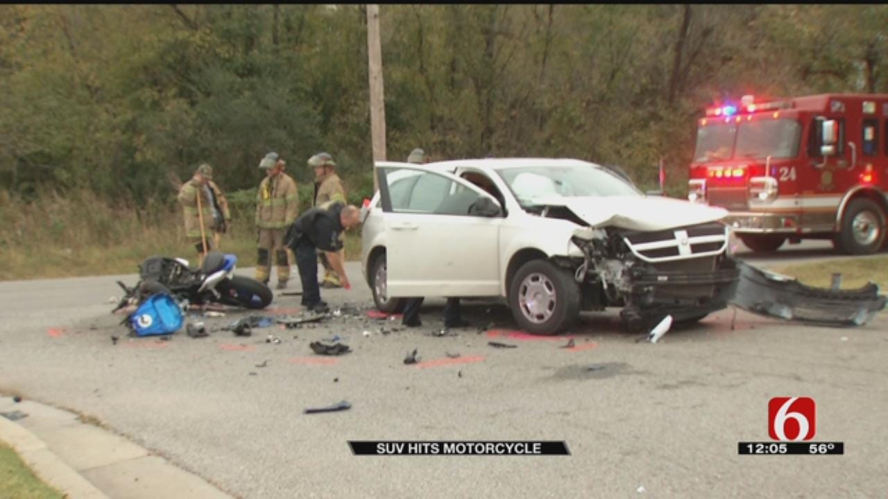 Motorcyclist Seriously Hurt In Tulsa Crash With SUV