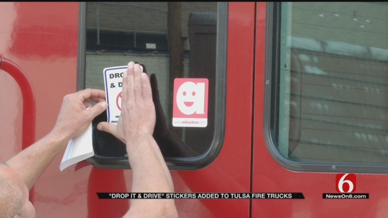 Tulsa Firefighters Raise Awareness About Texting And Driving Dangers