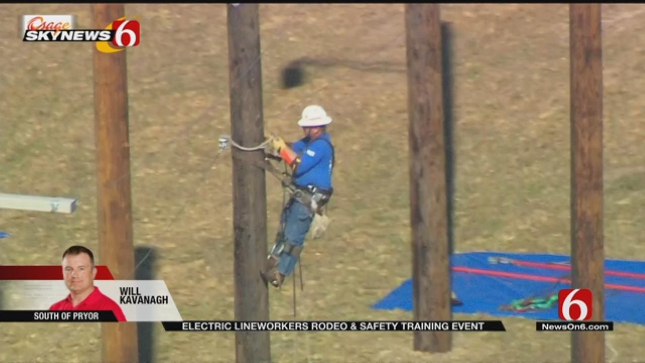 Oklahoma Electric Linemen Compete In 'Lineworkers Rodeo'