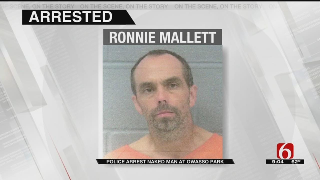 Naked Man With Weapons, Porn Arrested At Owasso Park