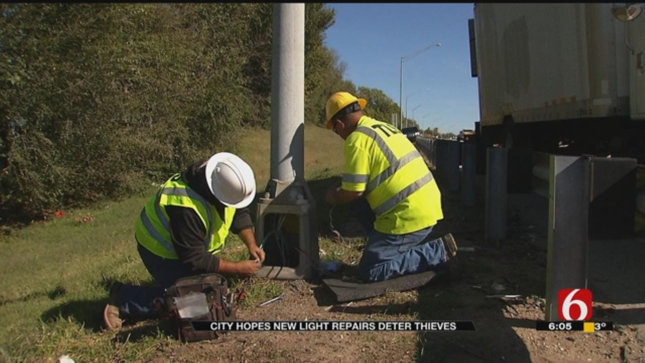 City Hopes Preventative Measures Stop Thieves, Keep Street Lights On
