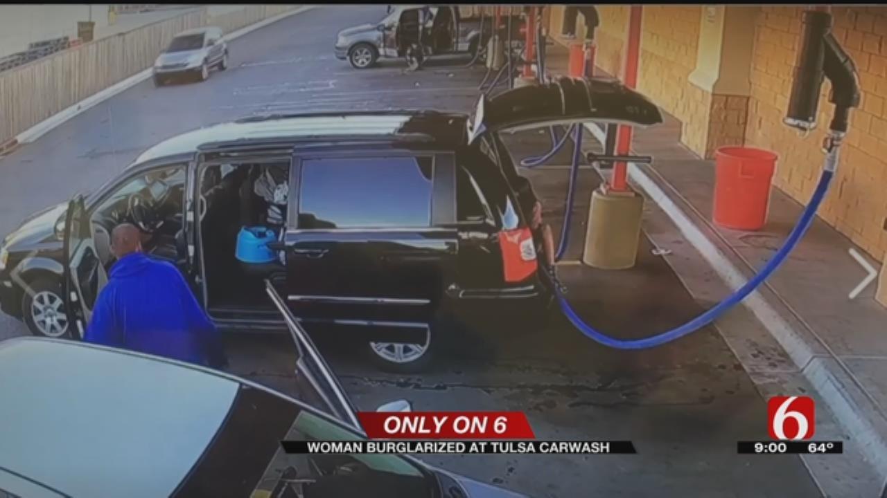 Woman's Van Burglarized With Child Inside At Tulsa Carwash