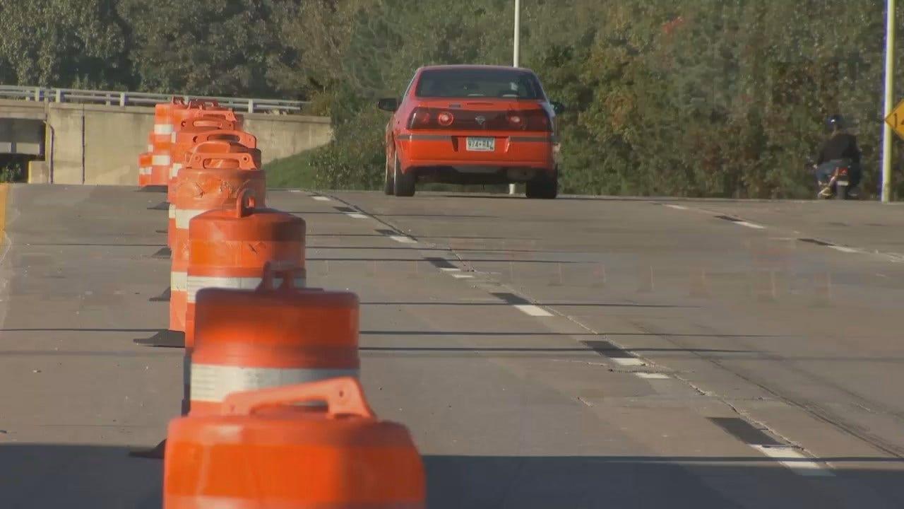 WEB EXTRA: Video Of Construction Work On Tulsa's IDL
