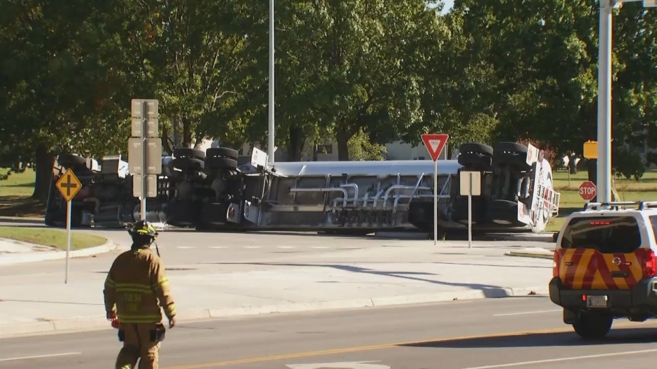 WEB EXTRA: Video From Scene Of Tanker Truck Accident