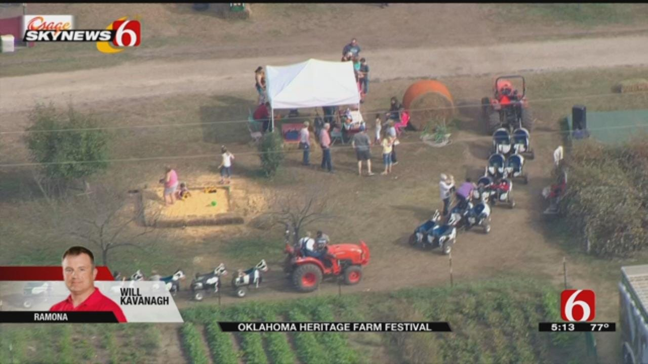 WEB EXTRA: Osage SkyNews 6 HD Flies Over Oklahoma Heritage Farm Fest