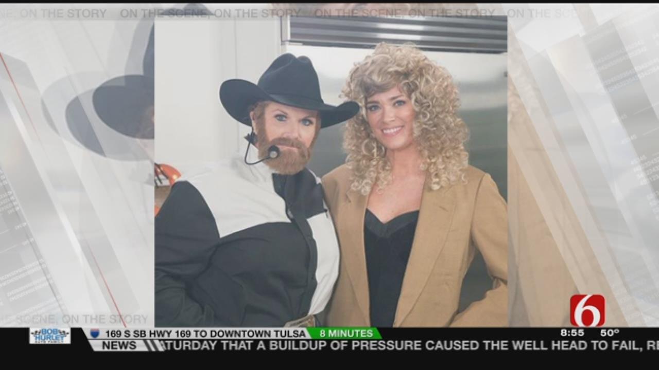 Trisha Yearwood Dresses As Garth Brooks For Halloween