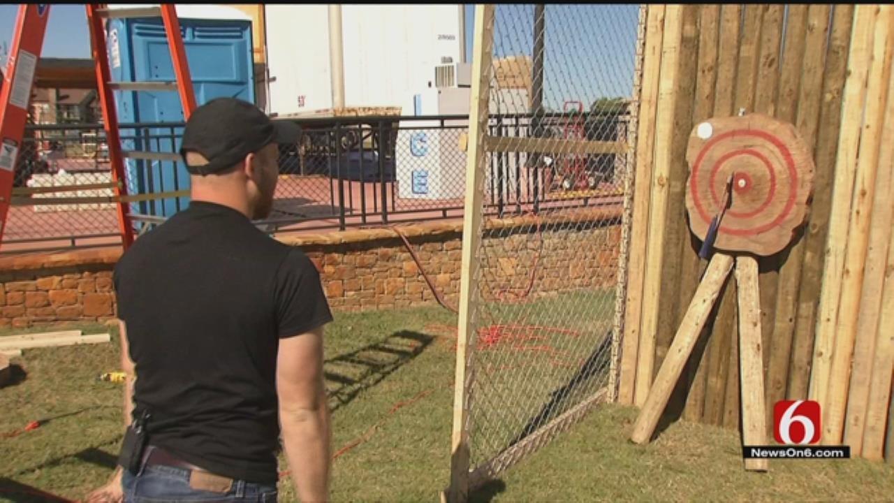 Tulsa's Oktoberfest Adds Axe-Throwing Booth