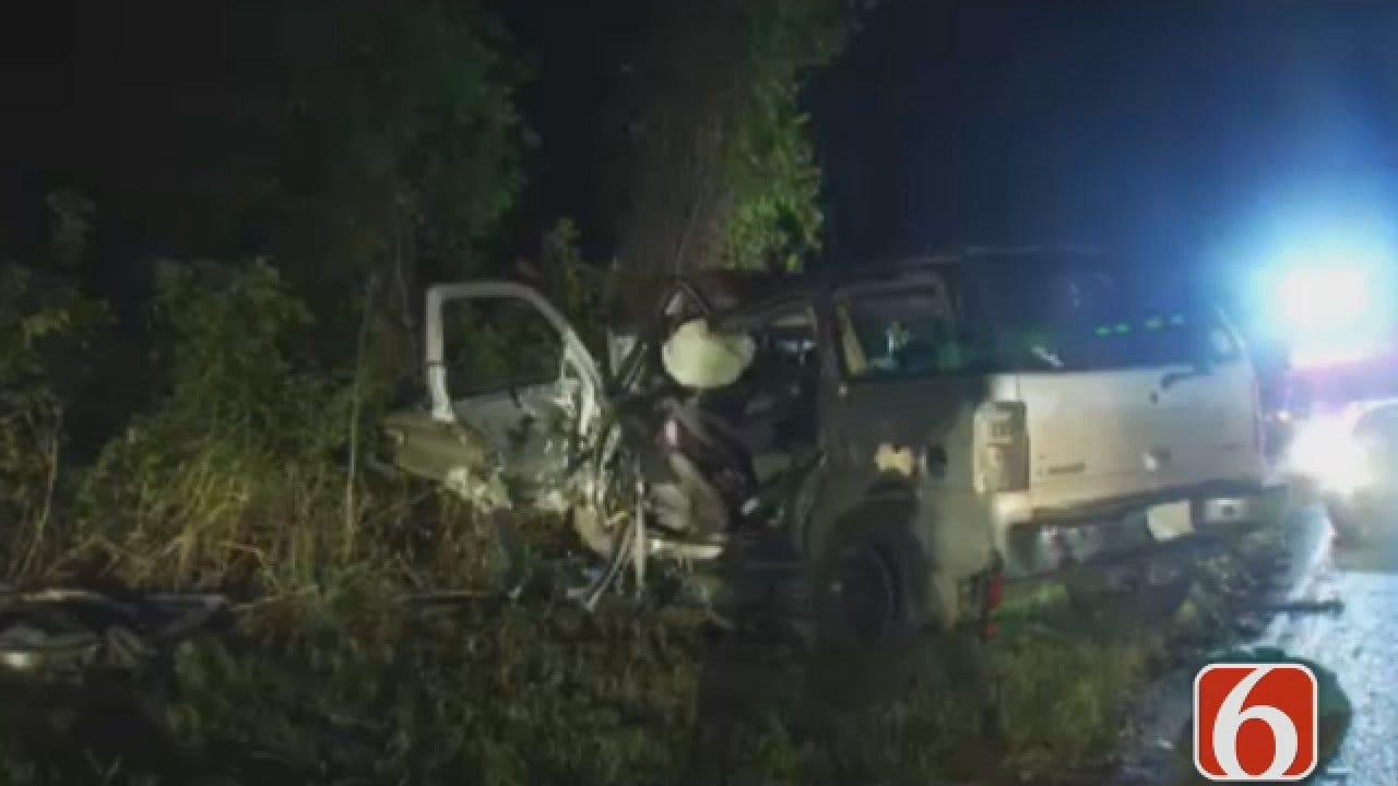 Dave Davis Reports On Fatal Highway Crash North Of Skiatook