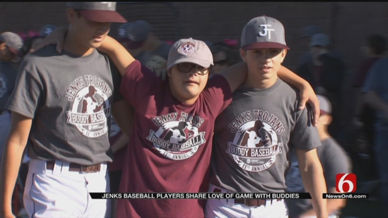 Jenks Baseball Hosts Autism Center Of Tulsa For 'Buddy Baseball'