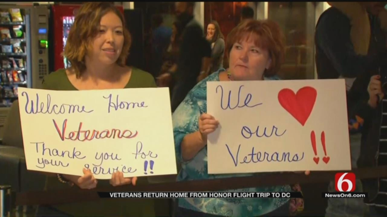 Veterans' Return To Tulsa Greeted With Letters, Support