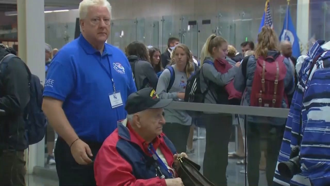 WEB EXTRA: Veterans Going Through Security At Tulsa International Airport