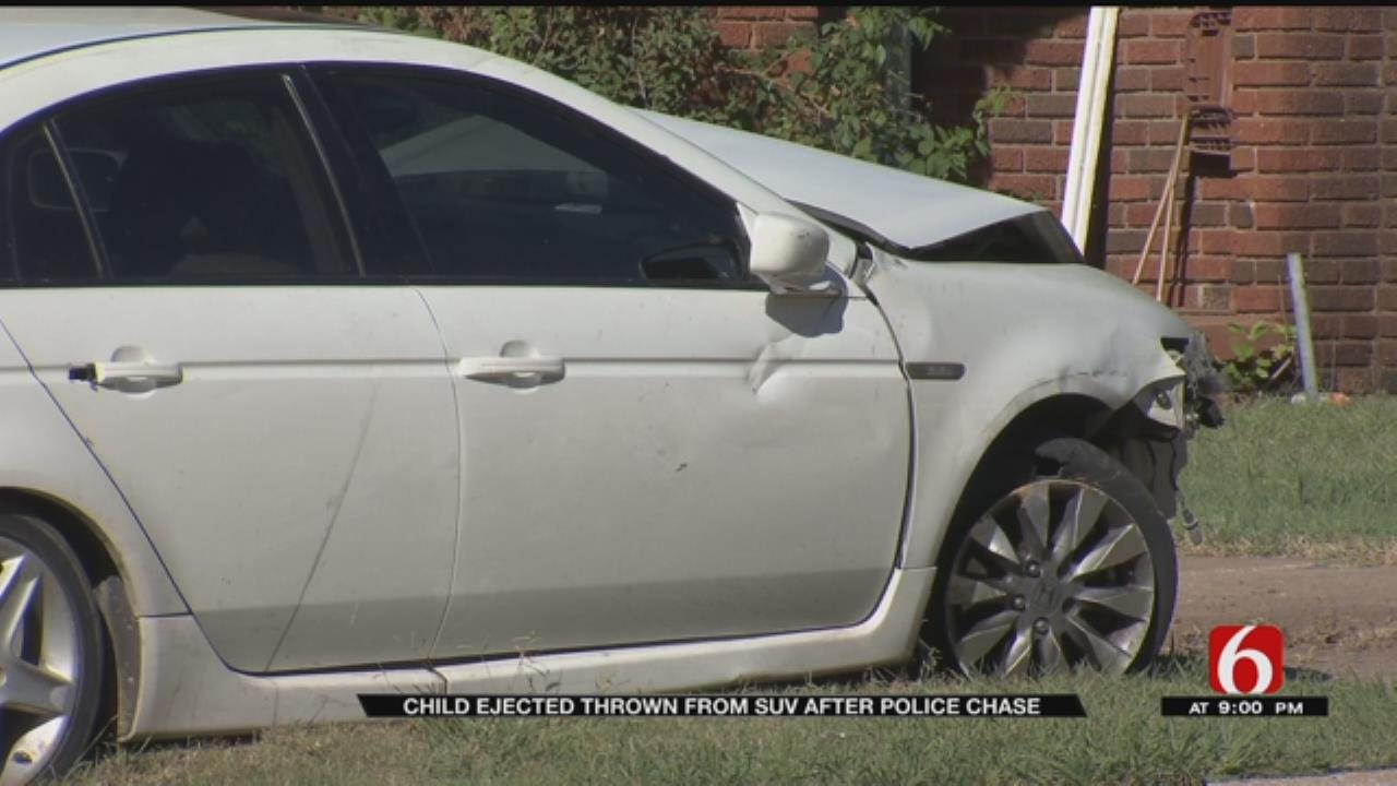 Boy Thrown From SUV After Tulsa Police Chase Ends In Crash