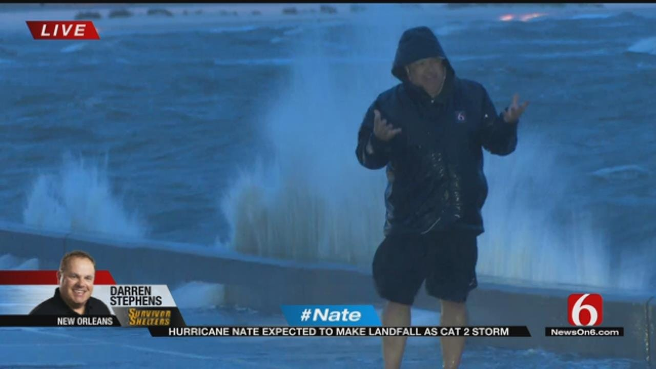 Storm Tracker Darren Stephens Follows Hurricane Nate In New Orleans