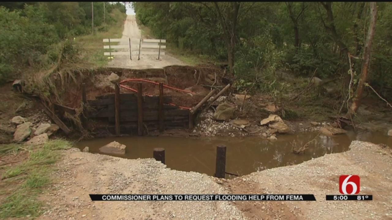 Pawnee County Surveys Flooding Rain Damage