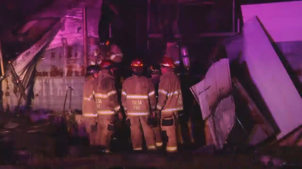 WEB EXTRA: Video From Scene Of Tulsa House, Building Fire