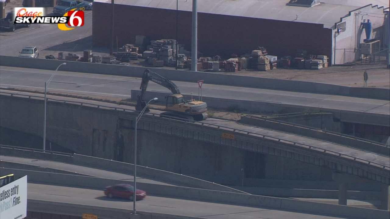 Osage SkyNews 6 HD Flies Over New Tulsa IDL/Highway 75 Project