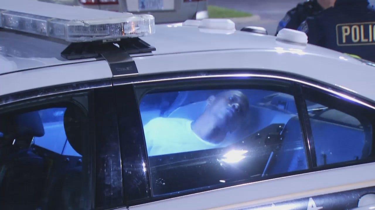 WEB EXTRA: Video From Scene Of Tulsa Murder Suspect Arrest