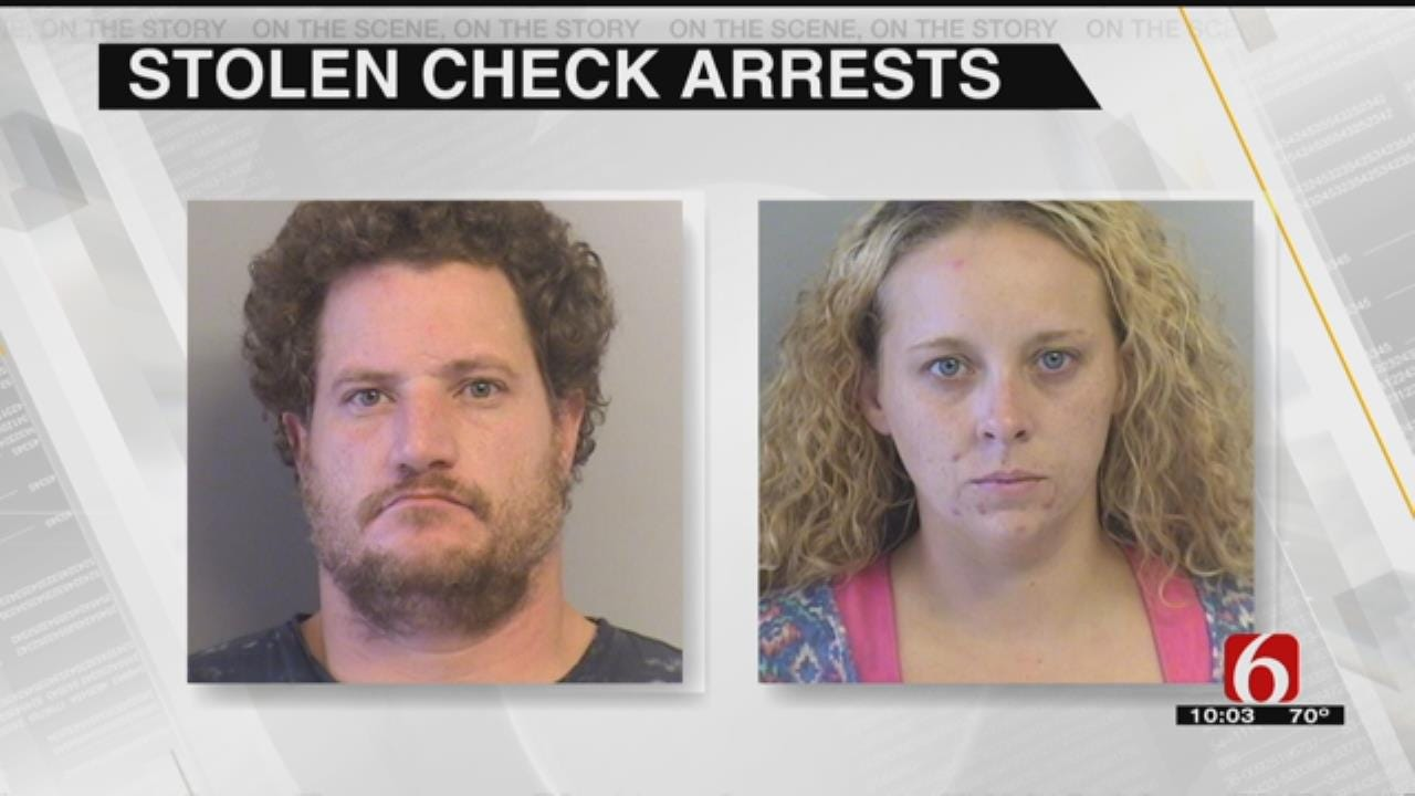 Two Arrested For Stolen Checks, Drugs