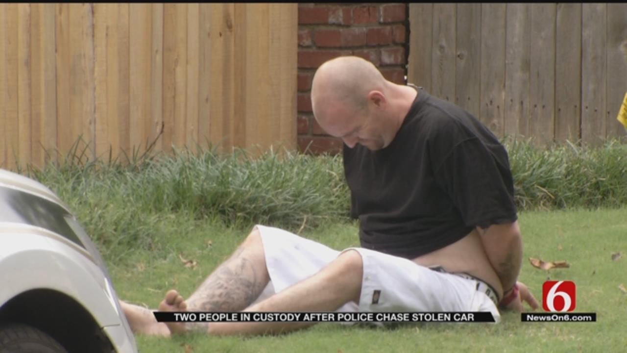 Two People In Custody Following Stolen Car Chase In Tulsa