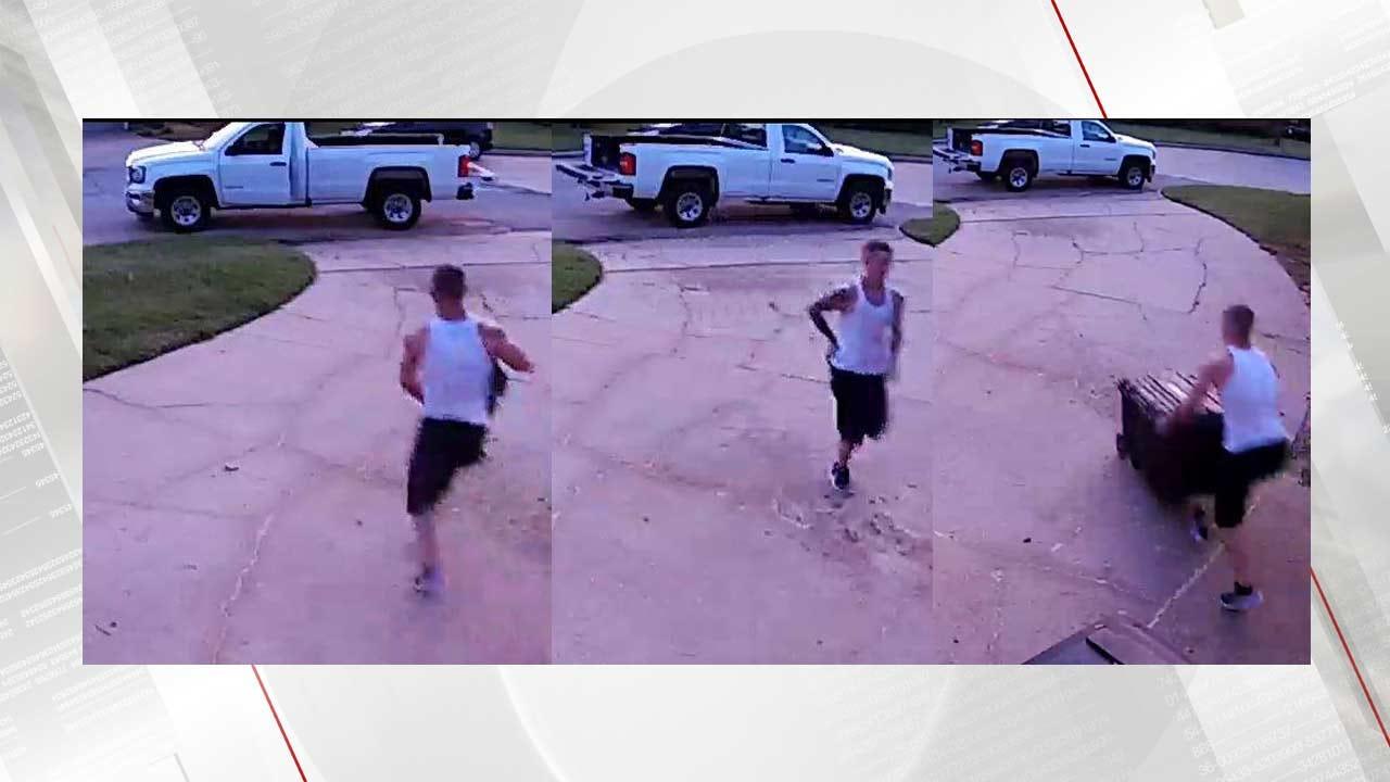 WEB EXTRA: Surveillance Camera Captures Tulsa Thief Twice