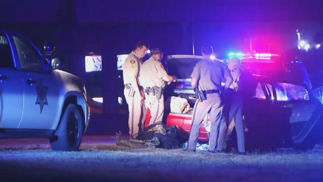 WEB EXTRA: Video From Scene At End Of Tulsa County Deputy Chase