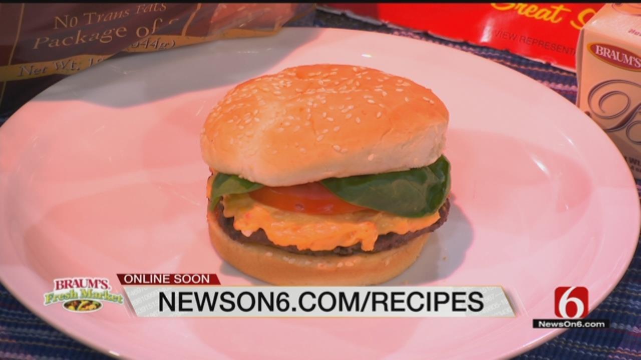 Pimiento Cheese Bacon Burgers
