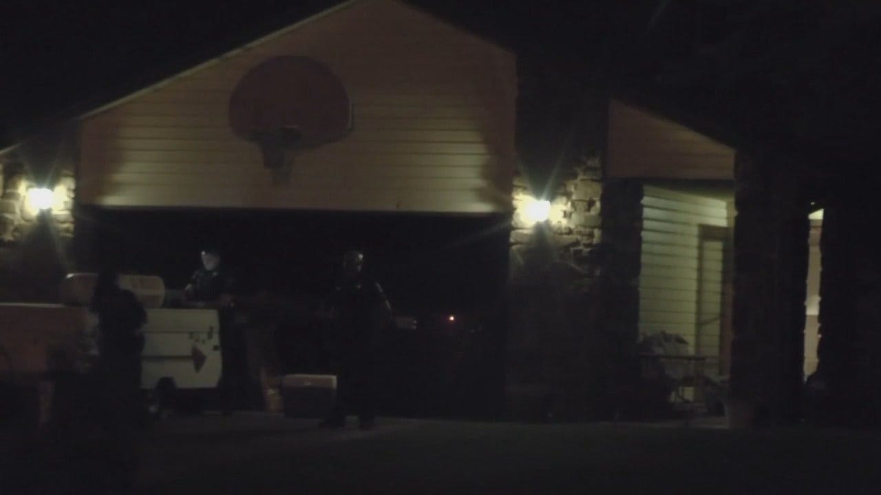 WEB EXTRA: Video From Scene Of Tulsa Home Invasion, Shooting