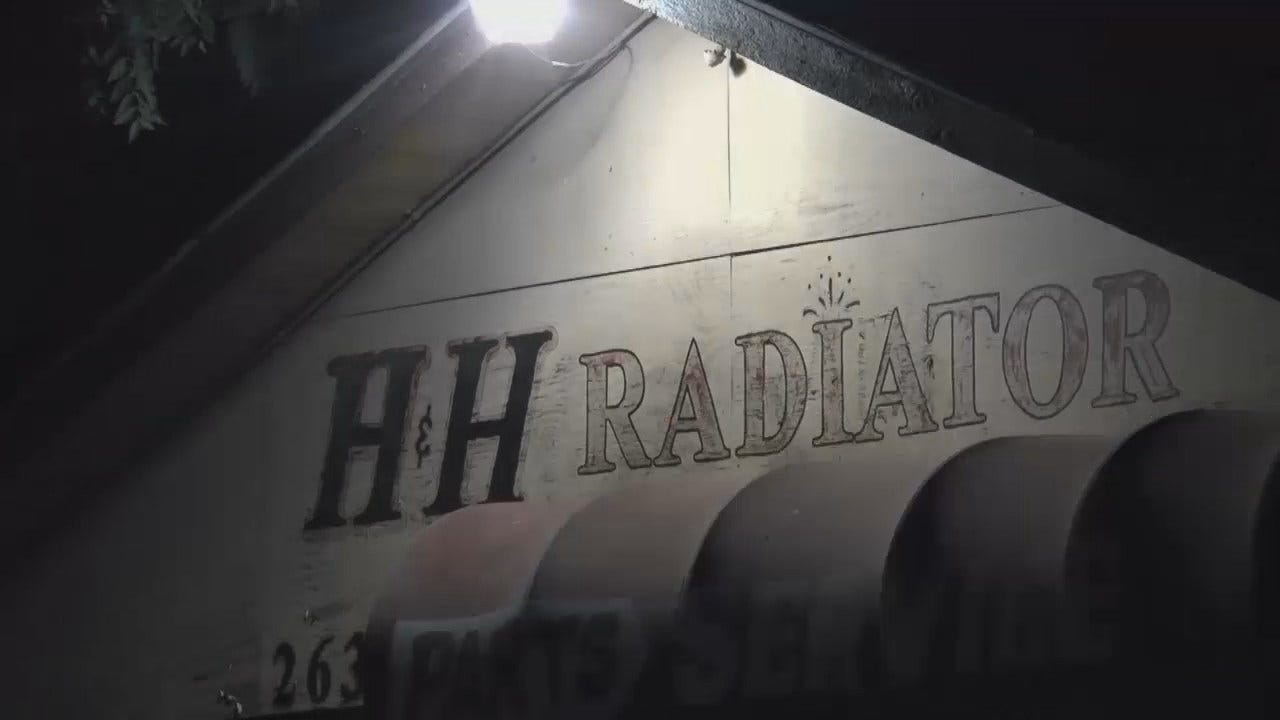 WEB EXTRA: Video From Scene Of Tulsa Radiator Shop Robbery