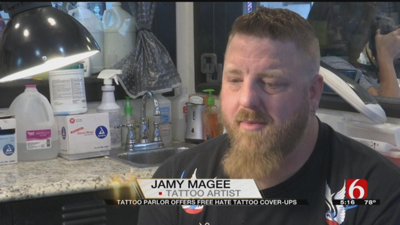 Sand Springs Tattoo Parlour Covers Hate Tattoos For Free