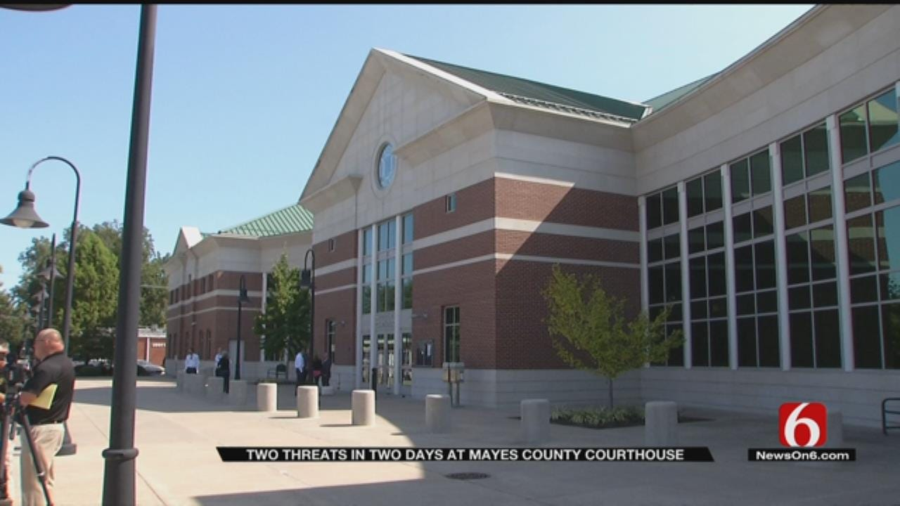 One Person Arrested After Separate Threats Made At Mayes County Courthouse
