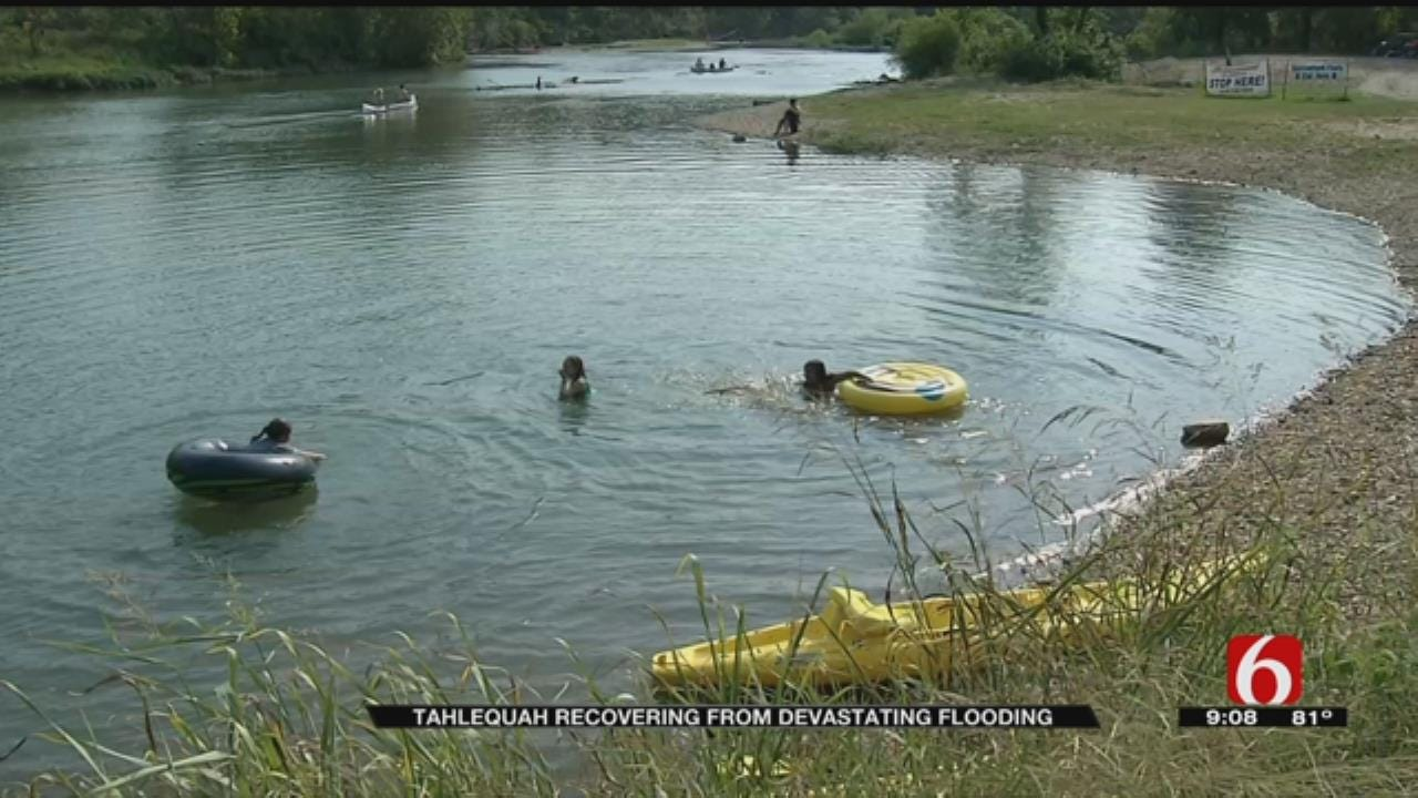 Flood Recovery Continues For Businesses Along Illinois River Near Tahlequah