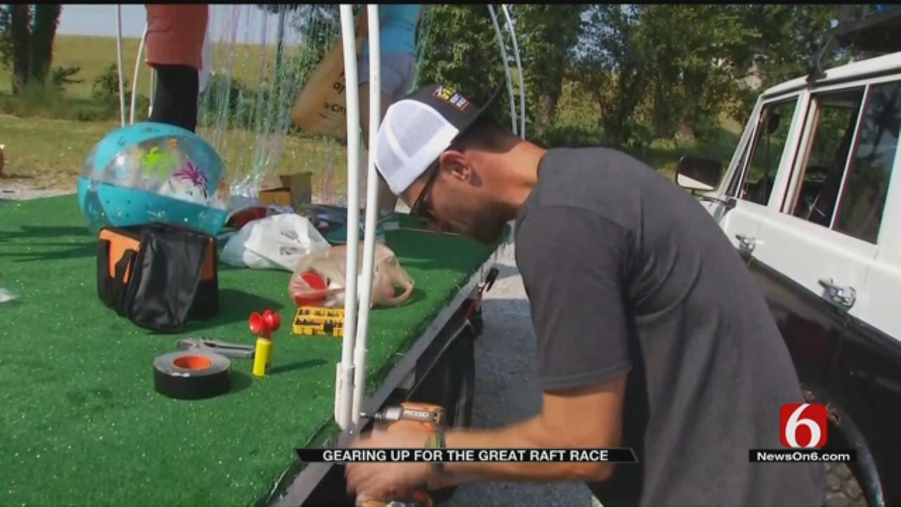 Great Raft Race Participants Gear Up For Monday's Event