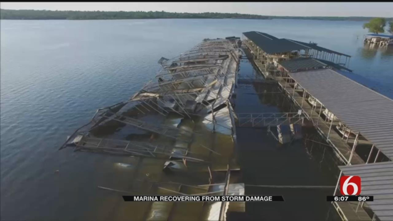 Fort Gibson Marina Damaged In May By High Winds Taking Extra Precautions