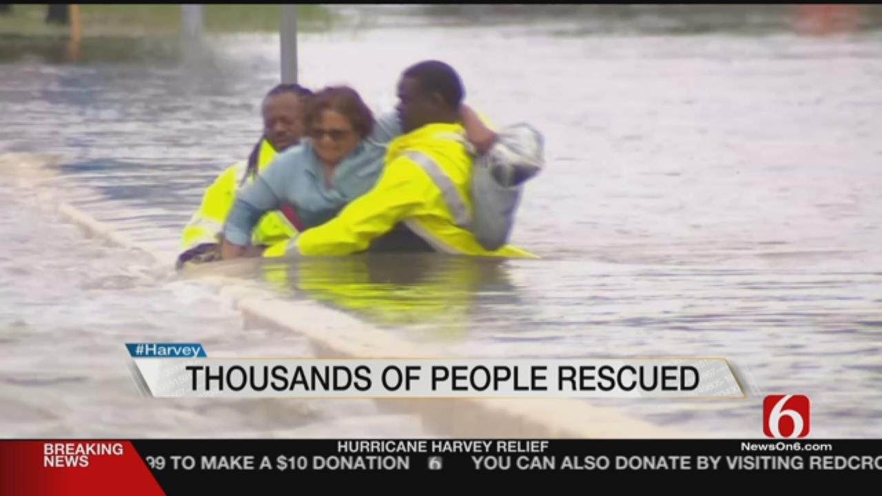 Thousands Need Rescue As Harvey Floodwaters Rise