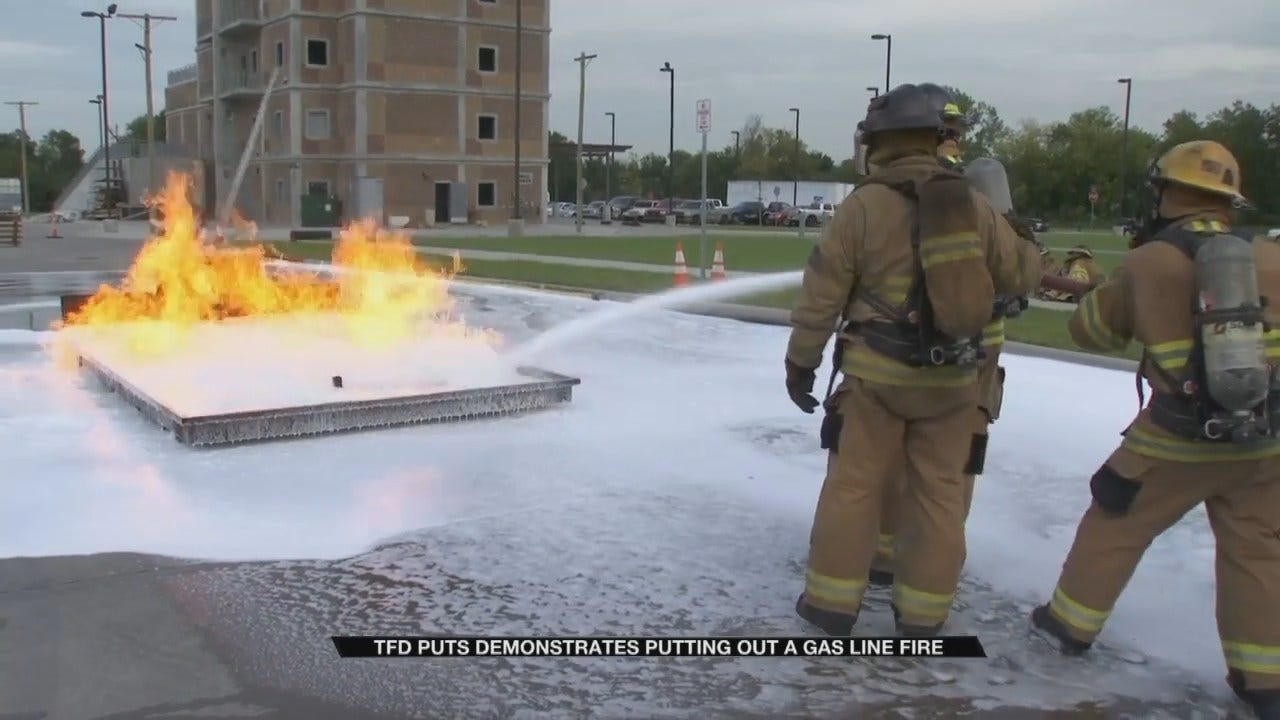 Tulsa Firefighters Train To Stop Gas Line Fires