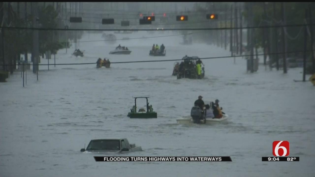 Team Coverage On Tropical Storm Harvey North Of Houston