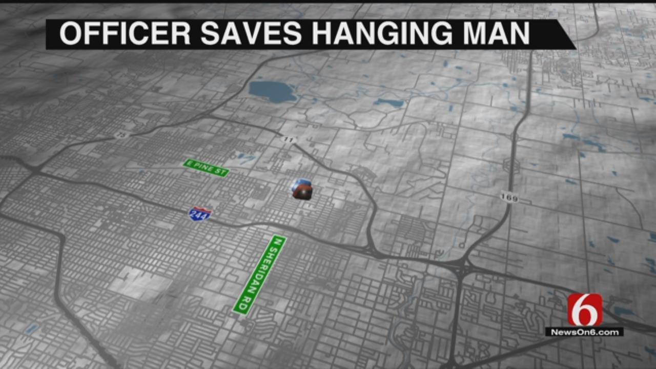 Tulsa Police Officer Saves Suicidal Man